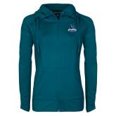 Ladies Sport Wick Stretch Full Zip Sapphire Jacket-Primary Logo