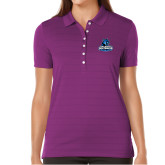 Ladies Callaway Opti Vent Purple Polo-Primary Logo