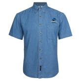 Denim Shirt Short Sleeve-Primary Logo