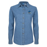 Ladies Denim Long Sleeve Shirt-Primary Logo
