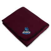 Maroon Arctic Fleece Blanket-Primary Logo