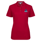 Ladies Easycare Cardinal Pique Polo-Primary Logo