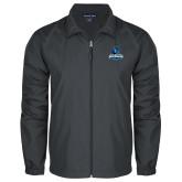 Full Zip Charcoal Wind Jacket-Primary Logo