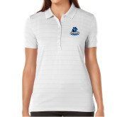 Ladies Callaway Opti Vent White Polo-Primary Logo