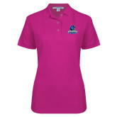 Ladies Easycare Tropical Pink Pique Polo-Primary Logo