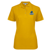 Ladies Easycare Gold Pique Polo-Primary Logo