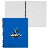 College Spiral Notebook w/Black Coil-Primary Logo