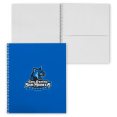 College Spiral Notebook w/Clear Coil-Primary Logo