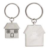 Silver House Key Holder-Primary Logo Engraved
