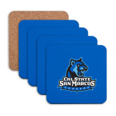 Hardboard Coaster w/Cork Backing 4/set-Primary Logo