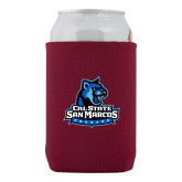Neoprene Maroon Can Holder-Primary Logo
