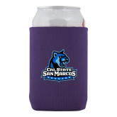 Neoprene Purple Can Holder-Primary Logo