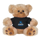 Plush Big Paw 8 1/2 inch Brown Bear w/Black Shirt-Primary Logo