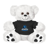 Plush Big Paw 8 1/2 inch White Bear w/Black Shirt-Primary Logo