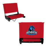 Stadium Chair Red-Primary Logo