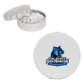 White Round Peppermint Clicker Tin-Primary Logo