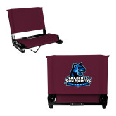 Stadium Chair Maroon-Primary Logo