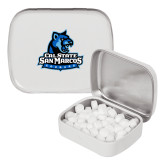White Rectangular Peppermint Tin-Primary Logo