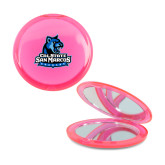 Pink Round Compact With 2x Magnifier Mirror-Primary Logo