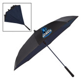 48 Inch Auto Open Black/Navy Inversion Umbrella-Primary Logo