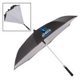 48 Inch Auto Open Black/White Inversion Umbrella-Primary Logo
