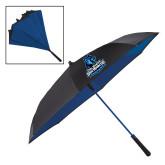 48 Inch Auto Open Black/Royal Inversion Umbrella-Primary Logo