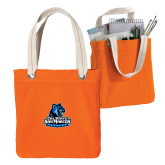 Allie Orange Canvas Tote-Primary Logo