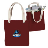 Allie Cardinal Canvas Tote-Primary Logo