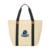 Natural/Black Saratoga Tote-Primary Logo