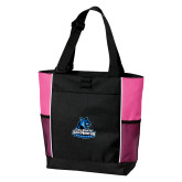 Black/Tropical Pink Panel Tote-Primary Logo