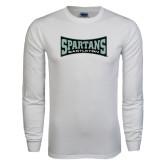 White Long Sleeve T Shirt-Wordmark