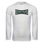 Syntrel Performance White Longsleeve Shirt-Wordmark