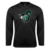 Performance Black Longsleeve Shirt-Spartan w/ Shield