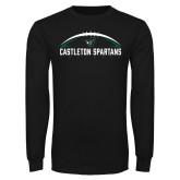 Black Long Sleeve TShirt-Football Design
