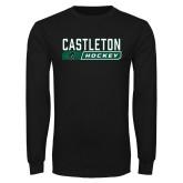 Black Long Sleeve TShirt-Hockey Design