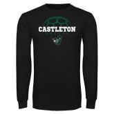 Black Long Sleeve TShirt-Soccer Design