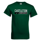 Dark Green T Shirt-Hockey Design