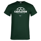 Dark Green T Shirt-Soccer Design