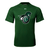Under Armour Dark Green Tech Tee-Spartan w/ Shield