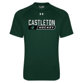 Under Armour Dark Green Tech Tee-Hockey Design