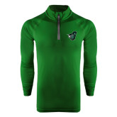 Under Armour Dark Green Tech 1/4 Zip Performance Shirt-Spartan w/ Shield