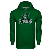 Under Armour Dark Green Performance Sweats Team Hood-Hockey