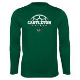Syntrel Performance Dark Green Longsleeve Shirt-Soccer Design
