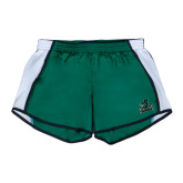 Ladies Dark Green/White Team Short-Primary Mark
