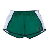 Ladies Dark Green/White Team Short-Primary Mark