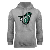 Grey Fleece Hoodie-Spartan w/ Shield