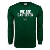 Dark Green Long Sleeve T Shirt-We Are Castleton