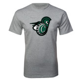 Grey T Shirt-Spartan w/ Shield