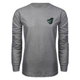 Grey Long Sleeve T Shirt-Spartan w/ Shield