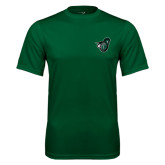 Performance Dark Green Tee-Spartan w/ Shield